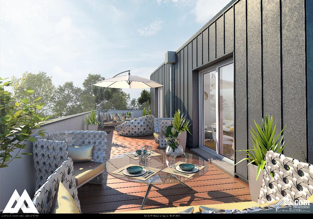 DINAN : T5 avec grande terrasse