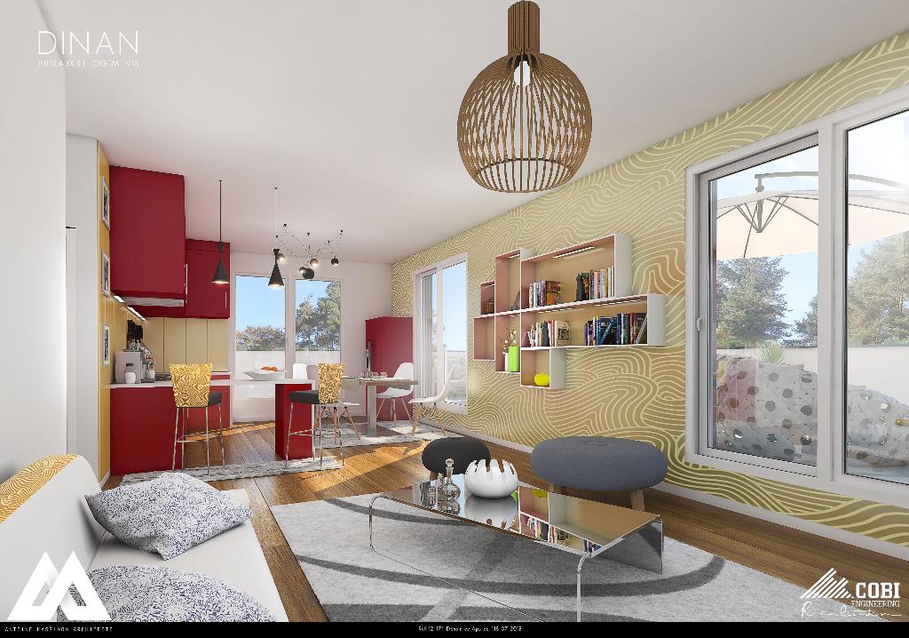 DINAN :  T4 neuf , terrasse et garage