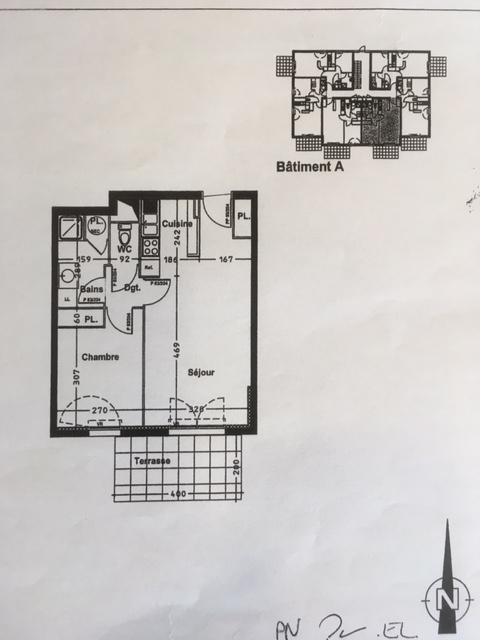 PLANCOET :  T2 avec terrasse 40m²